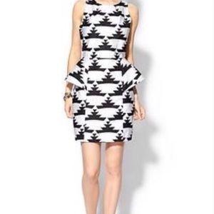 NWT Tinley Road Black & White Peplum Dress